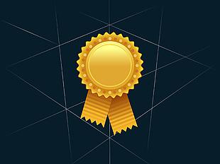 金色獎牌矢量圖 03