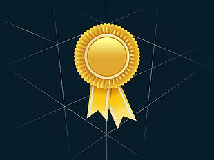 金色獎牌矢量圖 05