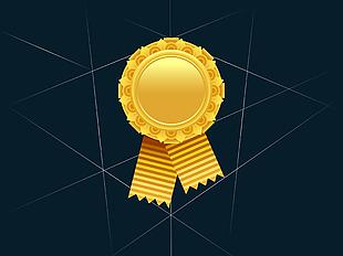 金色獎牌矢量圖 06