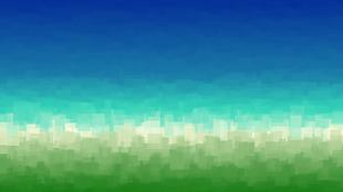 原綠草原與天空