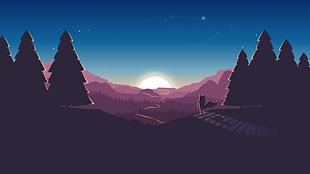 黎明時的森林