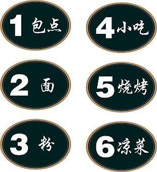 歐大碗飯餐飲 標識牌 導視系統 衛生間 廚房 包廂號 號碼牌 玻璃腰線 玻璃條 WiFi 密碼 推拉 安全出口 中國風 傳統紋樣 企業VI設計 設計 廣告設計 VI設計