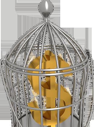 笼子里的金钱免扣素材