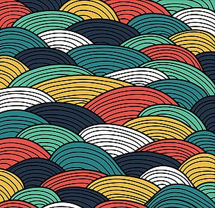 抽象彩色波紋背景