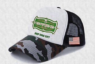 帽子定制Logo效果圖 側面