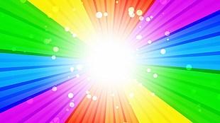 绚丽彩虹光芒视频素材,可无限循环