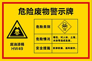 危險廢物警示牌
