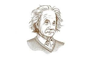 愛因斯坦素描圖