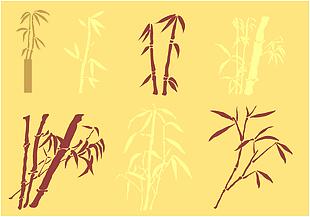 竹子剪影矢量圖片素材