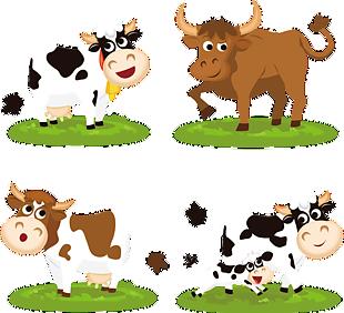 萌萌的站在草地上的牛