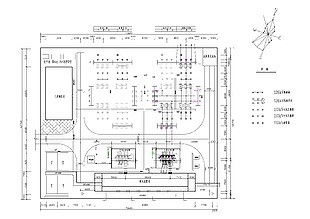 110kV变电站总平面布置图