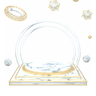 C4D大理石质感电商首页舞台元素