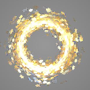 金色发光圆圈漂浮点缀