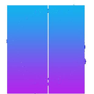 蓝紫渐变色科技感外发光几何圆形边框