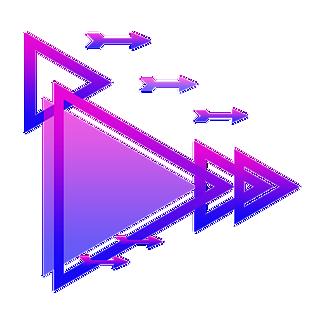 科技感藍紫色漸變三角形邊框可商用