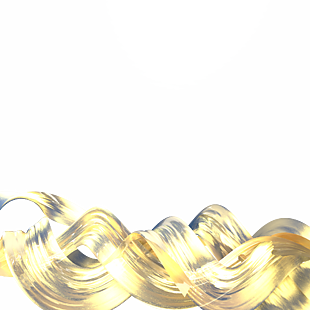 金色漂浮綢緞線條