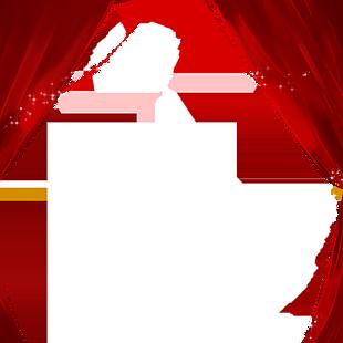 黑色的窗帘免抠图