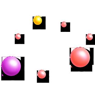 彩色圓球海報裝飾