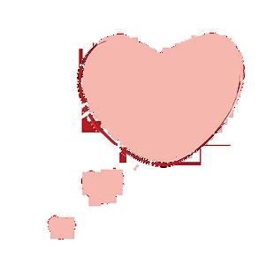 可爱简约心形对话框 (1)