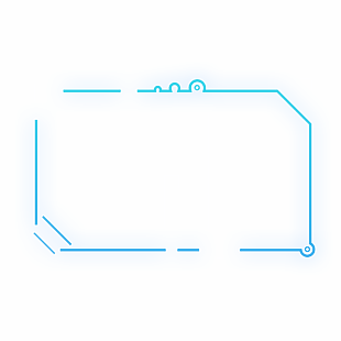 科技现代蓝色渐变发光圆环状科技边框 (1)