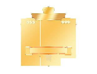 双1112电商金色发光钻石皇冠促销邀请函标题框