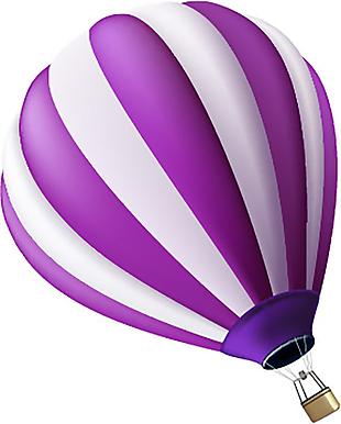 热气球 五彩