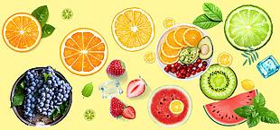 水果分層素材