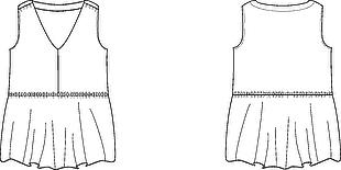 長版無袖V領T恤