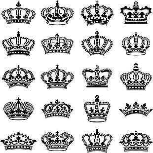 皇冠王冠矢量圖