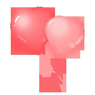 粉色心形气球