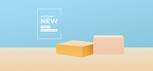 電商首頁立體模板新品上市