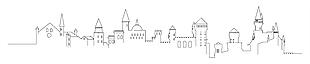 城堡手绘矢量图