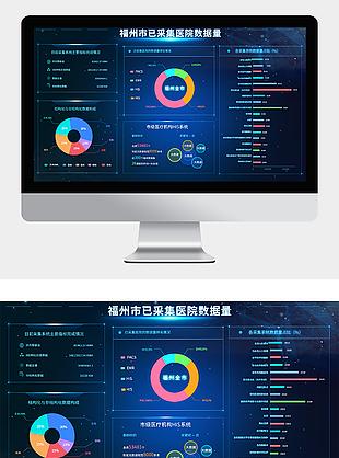 大數據后臺圖標界面可視化大數據UI