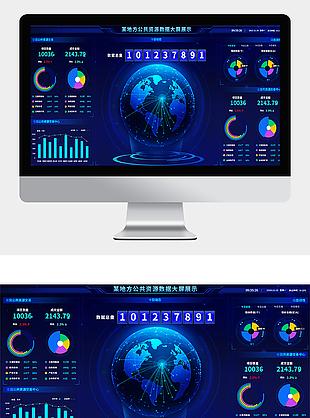数据监控某地区资源大数据可视化大屏