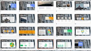 灰色展示簡潔總結報告PPT模板