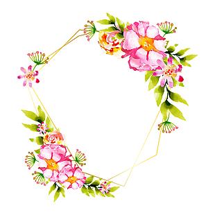 水彩花卉海報素材
