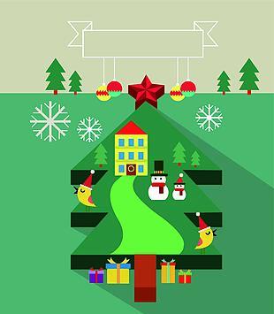 圣诞节插画设计
