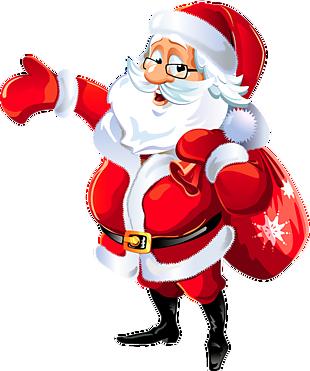 圣诞老人带眼镜