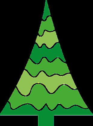圣诞节简笔画树