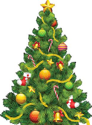 圣诞节树挂铃铛