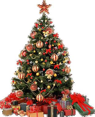 圣诞节圣诞树礼物堆