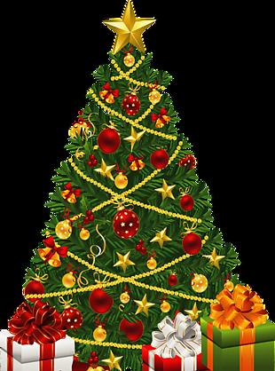 圣诞节摆放礼物