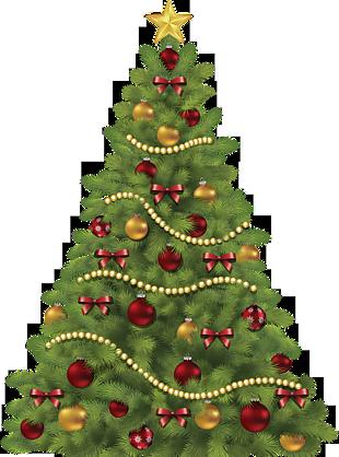 圣诞节圣诞树上挂装饰