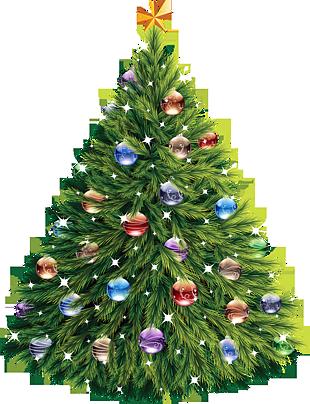 圣诞节圣诞树水晶球