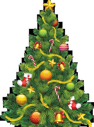 圣诞树上挂铃铛