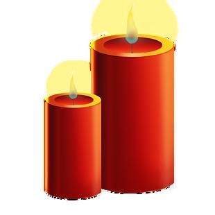圣诞节红色蜡烛