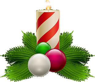圣诞节白色花纹蜡烛