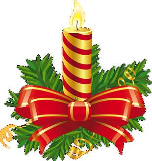 圣诞节金红蜡烛