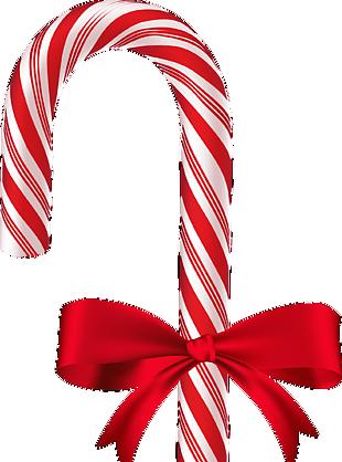 圣诞节花纹拐杖