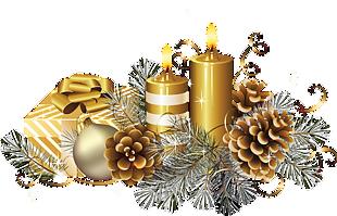 圣诞节金色蜡烛